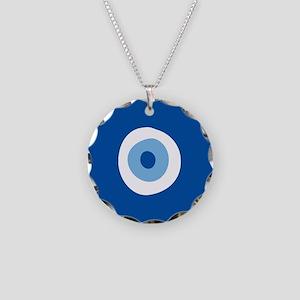 Blue Eye Necklace Circle Charm
