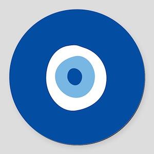 Blue Eye Round Car Magnet