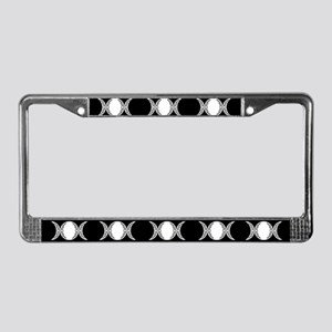 Triple Goddess Moon Symbol License Plate Frame