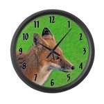 Red Fox Large Wall Clock