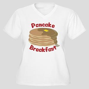 Pancake Breakfast Women's Plus Size V-Neck T-Shirt