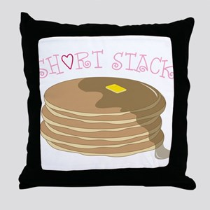 Short Stack Throw Pillow