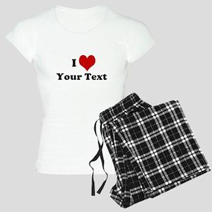 Customized I Love Heart Women's Light Pajamas