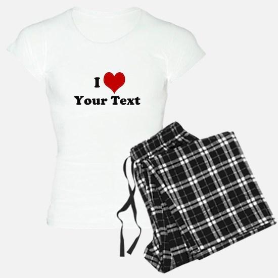 Customized I Love Heart pajamas