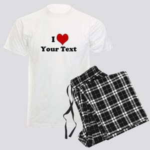 Customized I Love Heart Men's Light Pajamas