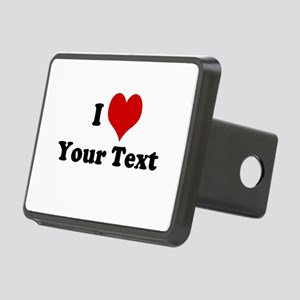 Customized I Love Heart Rectangular Hitch Cover