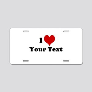 Customized I Love Heart Aluminum License Plate