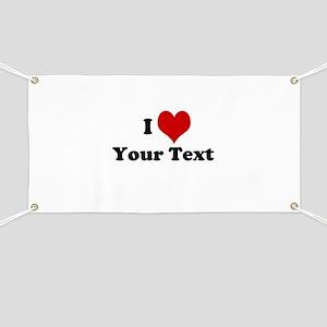 Customized I Love Heart Banner