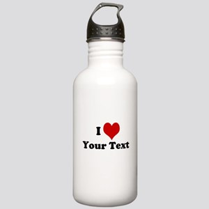 Customized I Love Heart Stainless Water Bottle 1.0