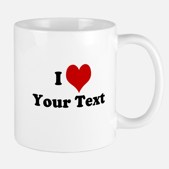 Customized I Love Heart Mug