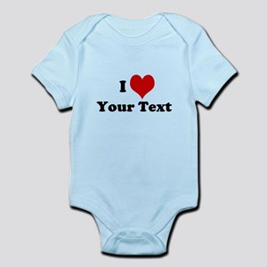 Customized I Love Heart Infant Bodysuit