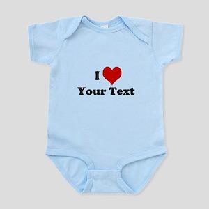 Customized I Love Heart Infant Bodysuit