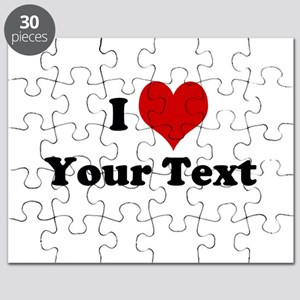 Customized I Love Heart Puzzle