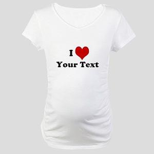 Customized I Love Heart Maternity T-Shirt