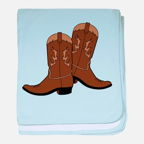 Cowboy Boots baby blanket