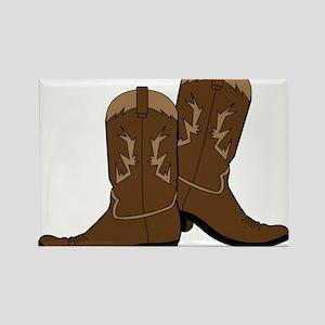 Cowboy Boots Rectangle Magnet