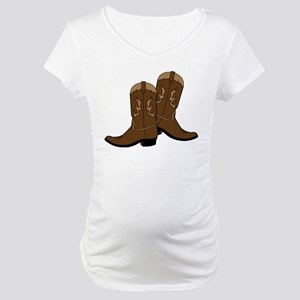Cowboy Boots Maternity T-Shirt