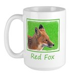 Red Fox 15 oz Ceramic Large Mug