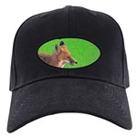 Red Fox Black Cap with Patch