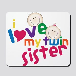 Love My Twin Mousepad
