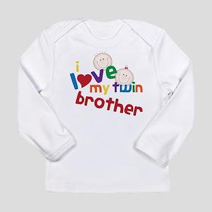 Love My Twin Long Sleeve Infant T-Shirt