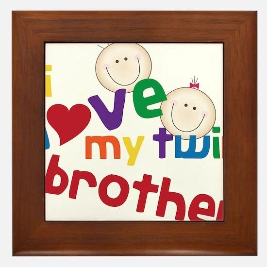 Love My Twin Framed Tile