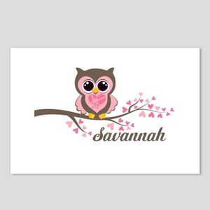 Custom Valentines Day owl Postcards (Package of 8)