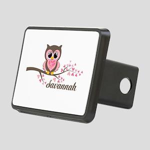 Custom Valentines Day owl Rectangular Hitch Cover