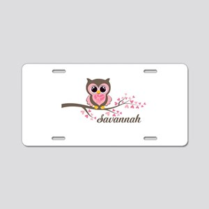 Custom Valentines Day owl Aluminum License Plate