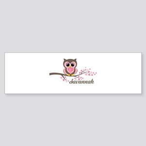Custom Valentines Day owl Sticker (Bumper)