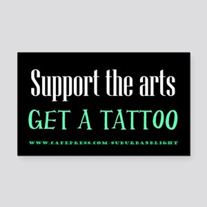 """Support Arts Tattoo"" Rectangle Car Magnet"