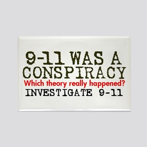 9-11 Was a Conspiracy! Rectangle Magnet