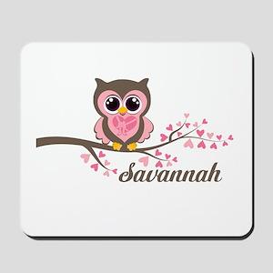 Custom Valentines Day owl Mousepad