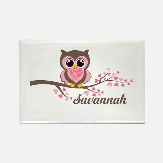 Custom Valentines Day owl Rectangle Magnet