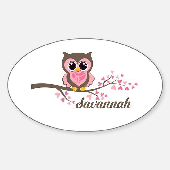 Custom Valentines Day owl Sticker (Oval)