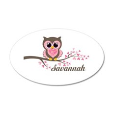 Custom Valentines Day owl Wall Decal Sticker