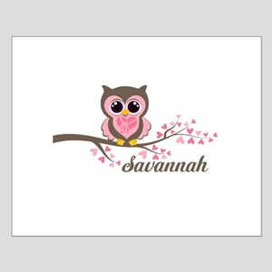 Custom Valentines Day owl Small Poster