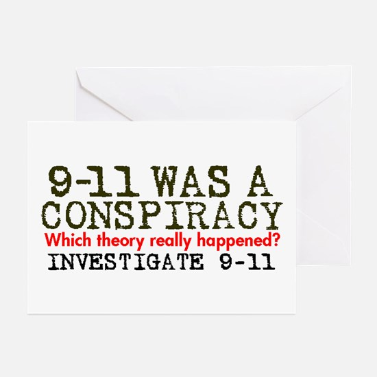 9-11 Was a Conspiracy! Greeting Cards (Package of