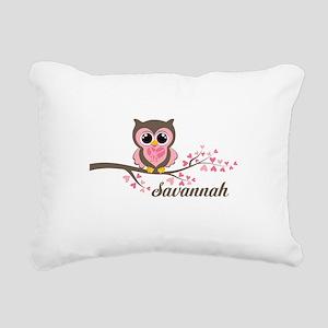 Custom Valentines Day owl Rectangular Canvas Pillo