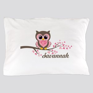 Custom Valentines Day owl Pillow Case