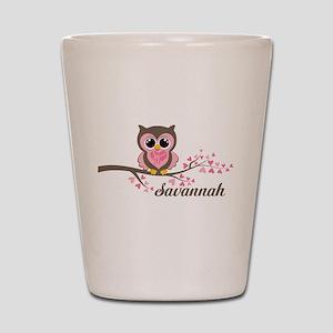 Custom Valentines Day owl Shot Glass