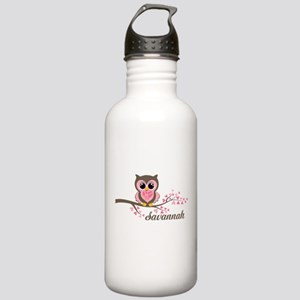 Custom Valentines Day owl Stainless Water Bottle 1
