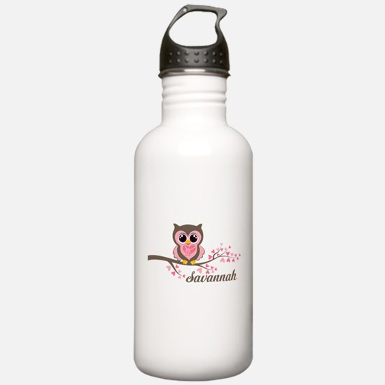 Custom Valentines Day owl Water Bottle