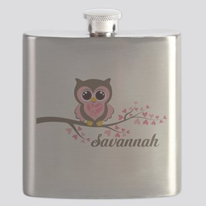 Custom Valentines Day owl Flask