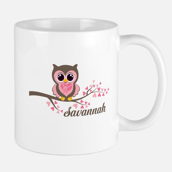 Custom Valentines Day owl Mug