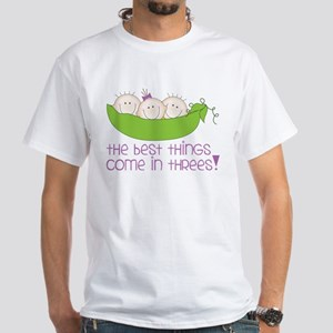 Come In Threes White T-Shirt