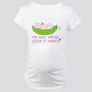 Come In Threes Maternity T-Shirt