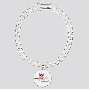 Custom Valentines Day owl Charm Bracelet, One Char