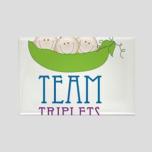 Team Triplets Rectangle Magnet
