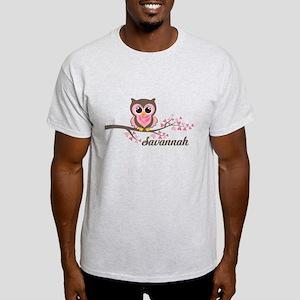 Custom Valentines Day owl Light T-Shirt